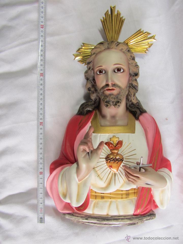 Antigüedades: Imagen Corazón de Jesús El niño Jesús Olot - Foto 13 - 50093928