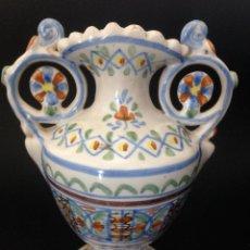 Antigüedades: JARRON CON OREJAS. JOSE GIMENO - MANISES. Lote 50097726
