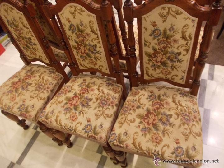 Importante lote de 6 sillas estilo colonial ame comprar - Sillas estilo colonial ...