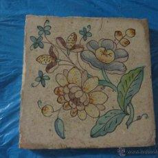Antigüedades: AZULEJO FLORES DE VALENCIA -SIGLO XVIII,ORIGINAL. Lote 50123183