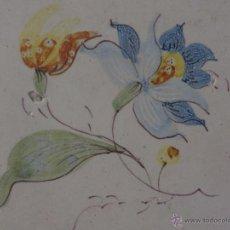 Antigüedades: AZULEJO FLOR DE ALCORA-SIGLO XVIII,ORIGINAL. Lote 50125784
