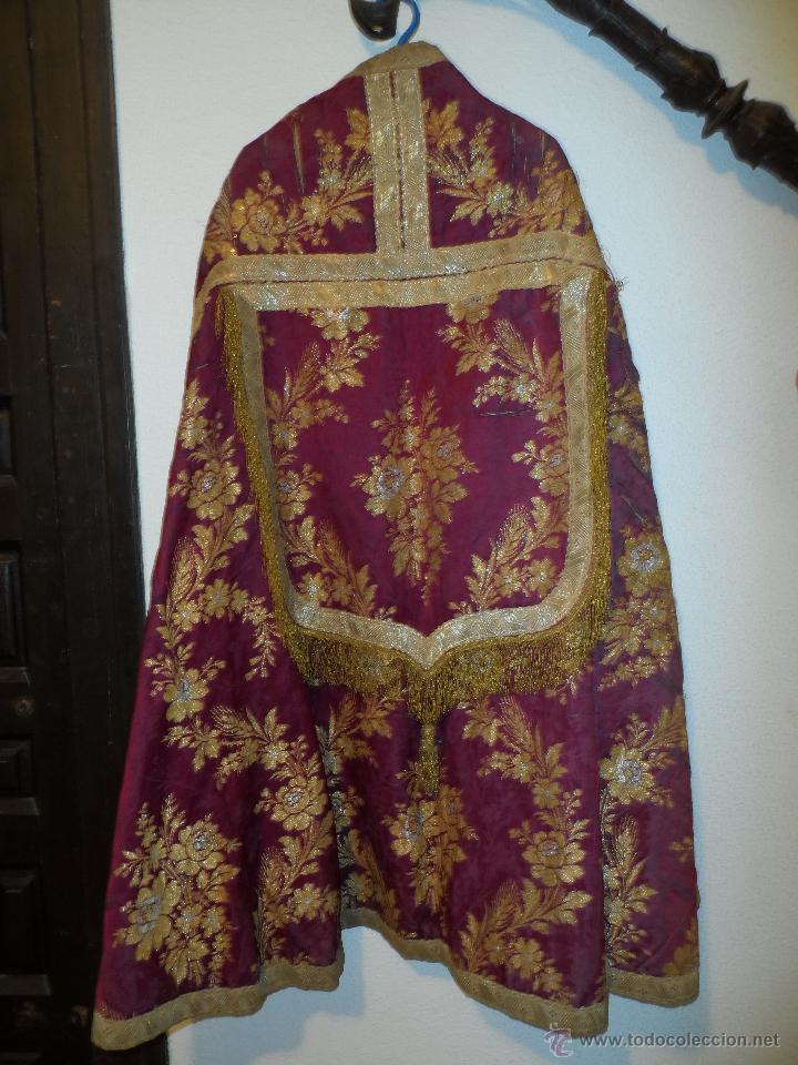 Antigüedades: CASULLAS Y VESTIMENTAS RELIGIOSAS ANTIGUAS - Foto 5 - 160200426