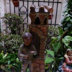 Antigüedades: GRAN NIÑO JESUS NIÑO DIOS LAMPARA MODERNISTA 68 CM - CON BOMBILLA . Lote 50132246