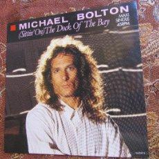 Discos de vinilo: MICHAEL BOLTON- MAXI-SINGLE VINILO- TITULO SITTIN' ON -THE DOCK OF THE BAY- 4 TEMAS - ORIGINAL DE 88. Lote 50147804