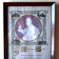 Antigüedades: BENDICIÓN APOSTÓLICA E INDULGENCIA PLENARIA (ARTICULO MORTIS) DE SU SANTIDAD EL PAPA JUAN XXIII.. Lote 50152048