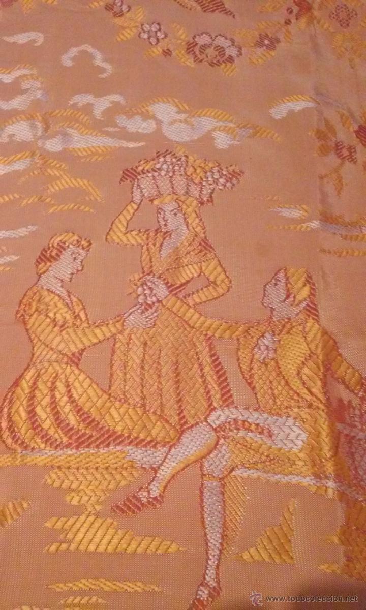 Antigüedades: antigua colcha brocada - Foto 2 - 50157471