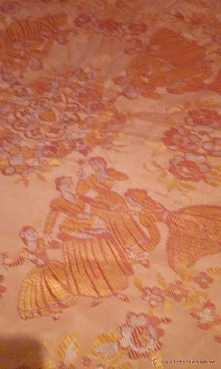Antigüedades: antigua colcha brocada - Foto 3 - 50157471