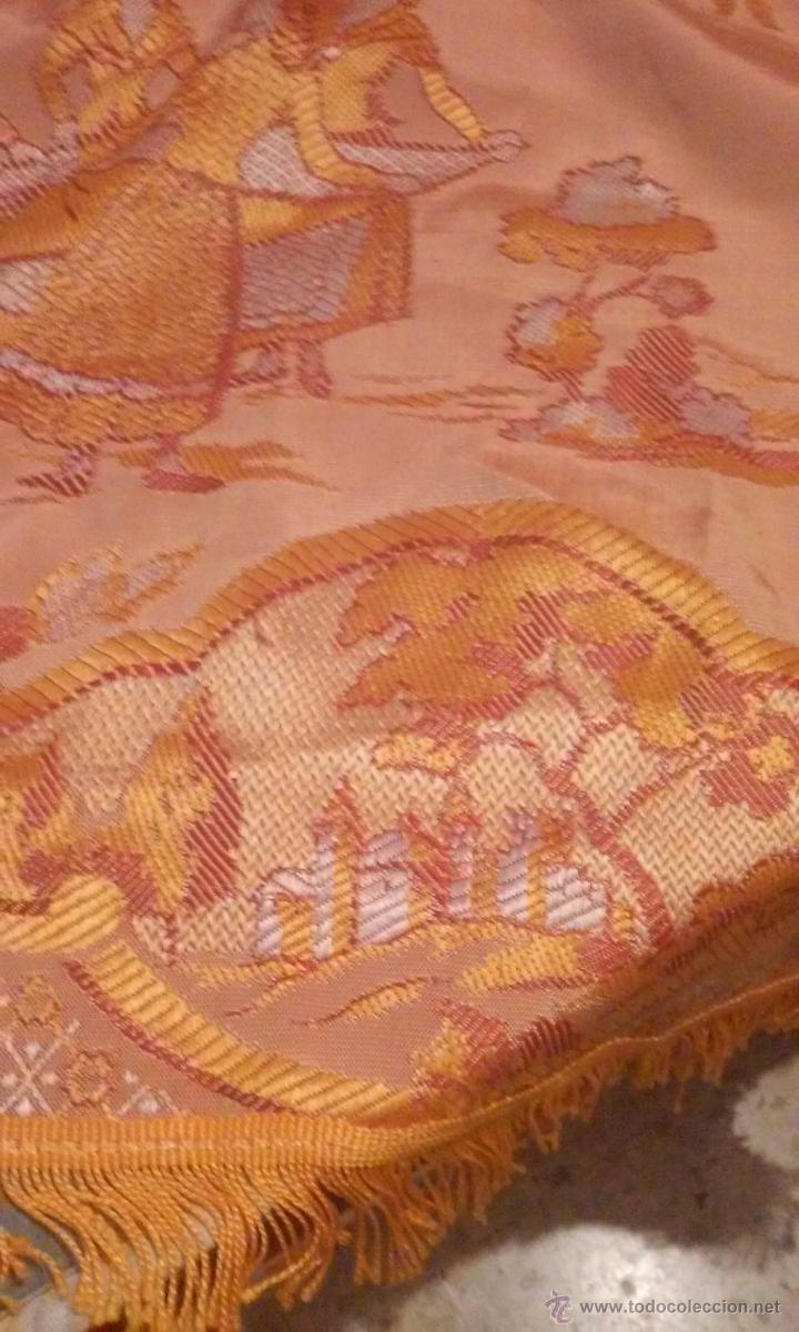 Antigüedades: antigua colcha brocada - Foto 4 - 50157471