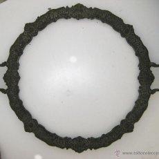 Antigüedades: GRAN BANDEJA MUY ANTIGUA EN BRONCE PATINA ORIGINAL. Lote 50161468