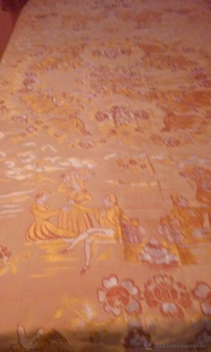 ANTIGUA COLCHA BROCADA (Antigüedades - Hogar y Decoración - Colchas Antiguas)