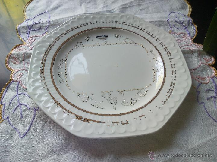 Antigüedades: Antiguo plato decorativo para poner foto,pontesa made in spain acanthus,alfar etrusco - Foto 2 - 50163861