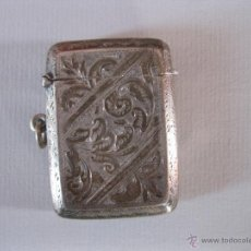 Antigüedades: ANTIGUA CAJA DE PLATA INGLESA PARA CERILLAS DE 1903. Lote 50165104