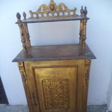 Antigüedades: MUEBLE AUXILIAR DORADO. Lote 50165601