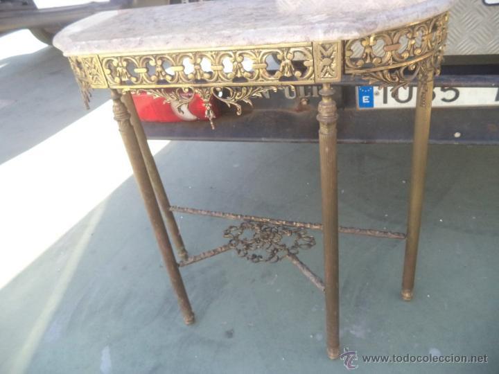Antigüedades: consola y espejo de bronce - Foto 5 - 49734665