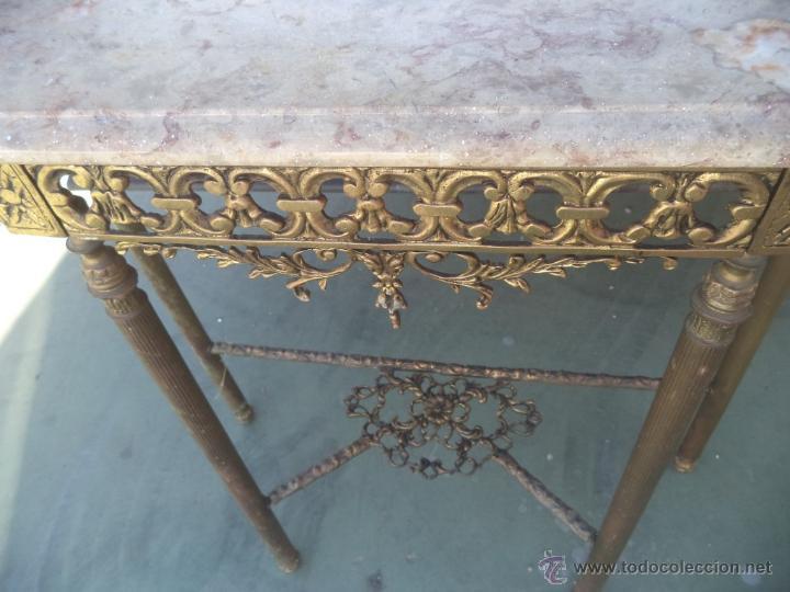 Antigüedades: consola y espejo de bronce - Foto 6 - 49734665