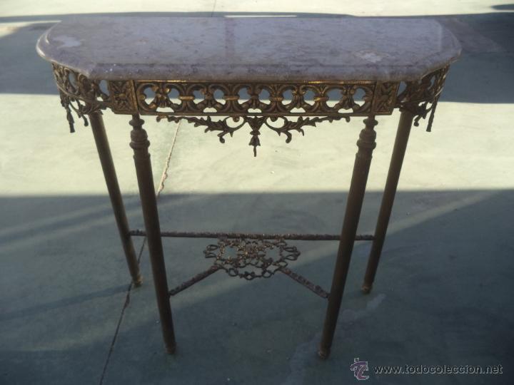 Antigüedades: consola y espejo de bronce - Foto 7 - 49734665