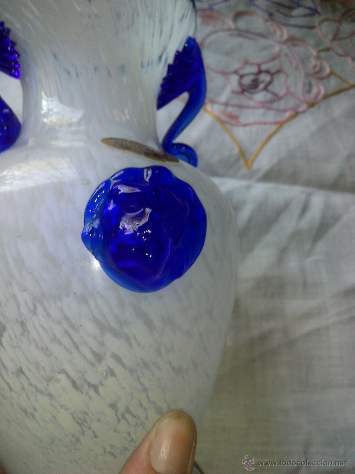 Antigüedades: antiguo jarrón de crista de murano . arte murano silvestri. - Foto 5 - 50165711