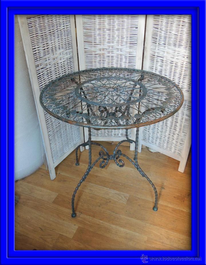 Mesa de hierro para terraza o jardin comprar muebles - Mesas de hierro para jardin ...