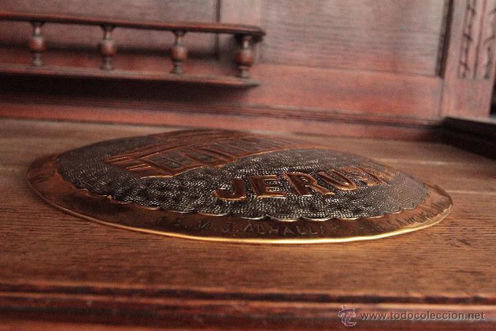 Antigüedades: EXCELENTE PLATO DE JERUSALEM, REALIZADO A MANO, REPUJADO Y FIRMADO POR EL ARTISTA. - Foto 6 - 50173051