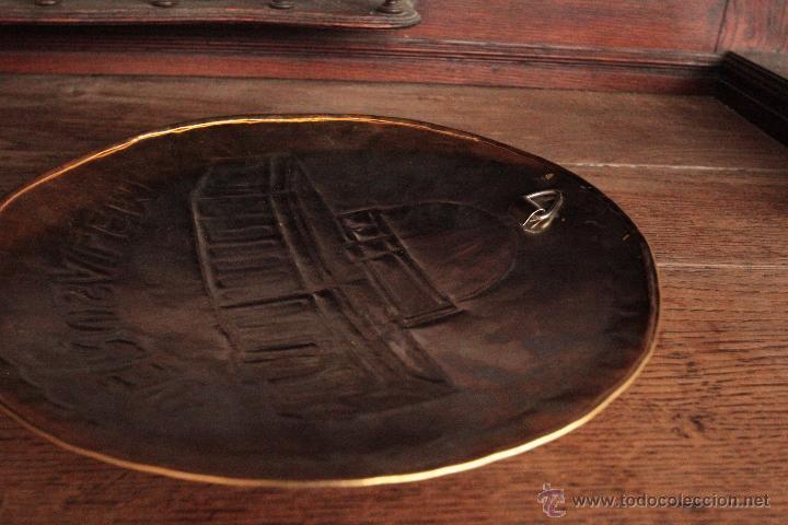 Antigüedades: EXCELENTE PLATO DE JERUSALEM, REALIZADO A MANO, REPUJADO Y FIRMADO POR EL ARTISTA. - Foto 7 - 50173051