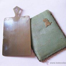 Antigüedades: ESPEJO DE BOLSO O BOLSILLO DE METAL MUY PULIDO. Lote 50180701