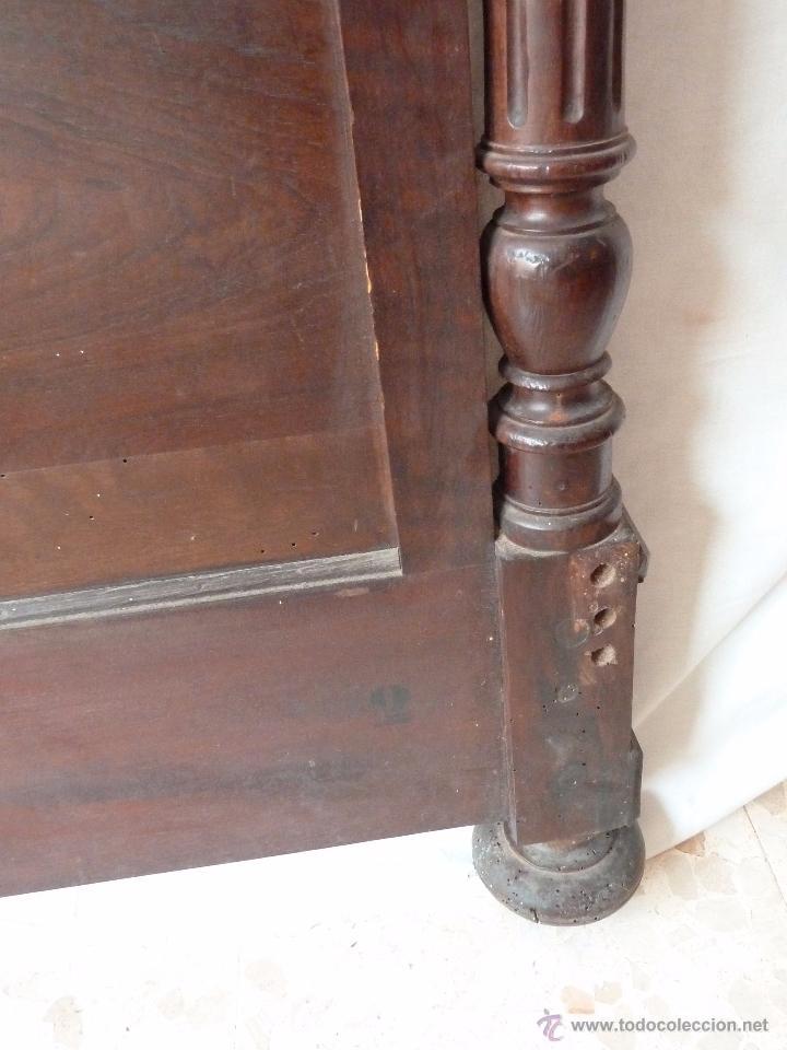 Antigüedades: CAMA ALFONSINA DE FINALES DEL S.XIX – COMPLETA – ANCHO 102 CM - Foto 5 - 50191409