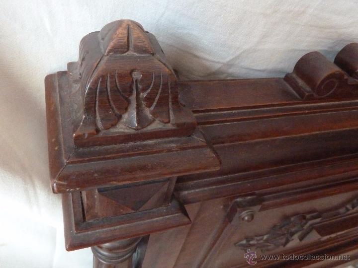 Antigüedades: CAMA ALFONSINA DE FINALES DEL S.XIX – COMPLETA – ANCHO 102 CM - Foto 12 - 50191409