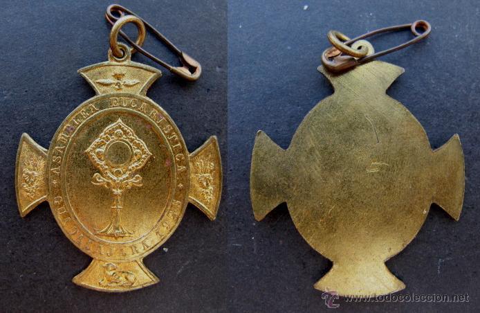 MEDALLA RELIGIOSA ANTIGUA ASAMBLEA EUCARISTICA GUADALAJARA AÑO 1925 MUY BIEN CONSERVADA (Antigüedades - Religiosas - Medallas Antiguas)