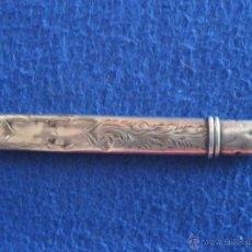 Antigüedades: PORTALÁPIZ DE PLATA MACIZA INGLESA DE LA MARCA HG&S LTD DE 1904. Lote 50192949