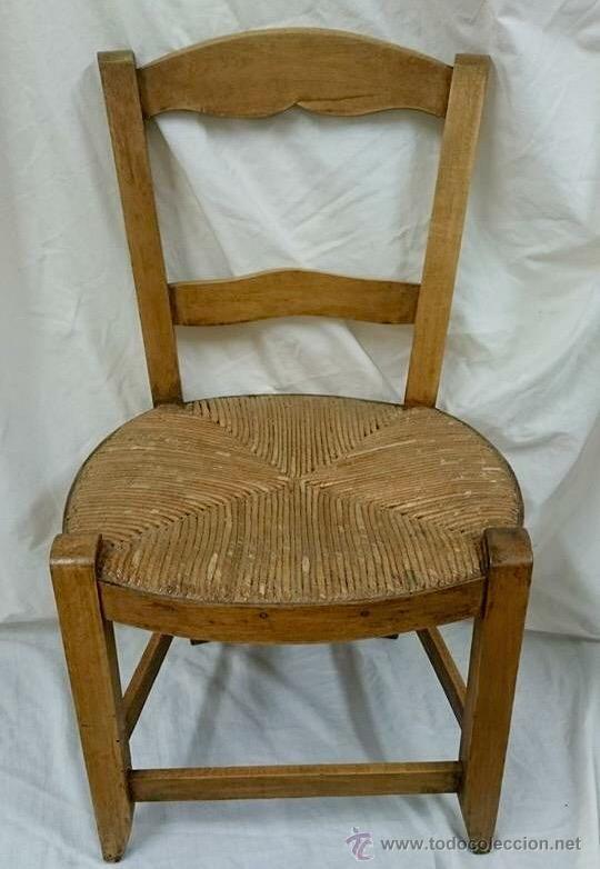 Antigua silla de madera y cuerda de pueblo comprar sillas antiguas en todocoleccion - Sillas de madera antiguas ...