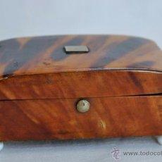 Antigüedades: SNUFF BOX. ANTIGUA CAJA DE TABACO DE RAPE EN CAREY DE TORTUGA SIGLO XIX. Lote 50206702