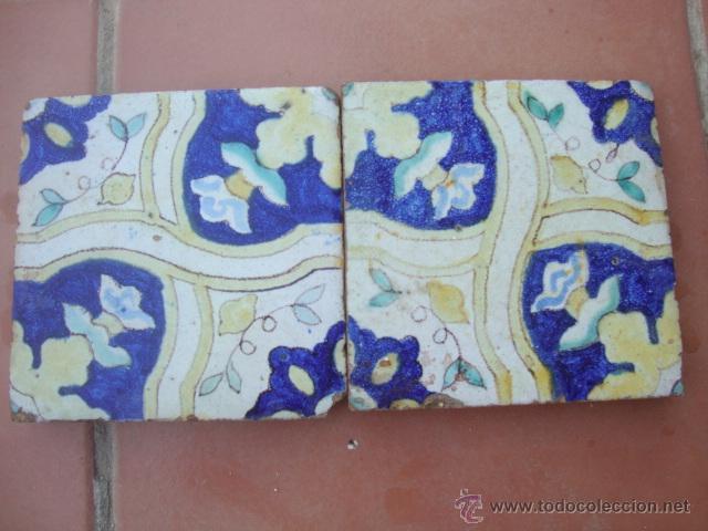 PAREJA DE AZULEJOS (TRIANA) (Antigüedades - Porcelanas y Cerámicas - Triana)