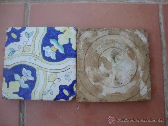 Antigüedades: pareja de azulejos (TRIANA) - Foto 2 - 50207636