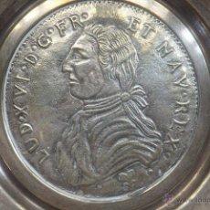 Antigüedades: PLATO PETITORIO METAL PLATEADO CON EFIGIE DE REY BORBON. Lote 50209428