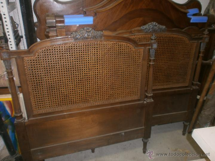 Pareja cabeceros de madera y rejilla medida 97 comprar - Cabeceros de cama antiguos ...