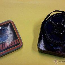 Antigüedades: CAJA METALICA DE PELIKAN CON CINTA DE TINTA. Lote 50244534