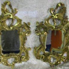 Antigüedades: PAREJA DE CORNUCOPIAS EN PAN DE ORO DE FINALES DEL SIGLO XVIII ESTILO CARLOS IV. Lote 50247812