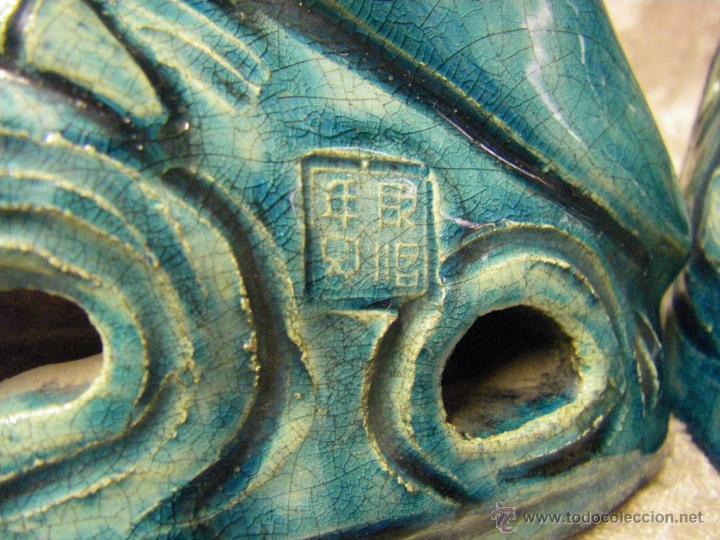 Antigüedades: Pareja de pájaros chinos en gres de finales del siglo XIX China - Foto 17 - 50248122