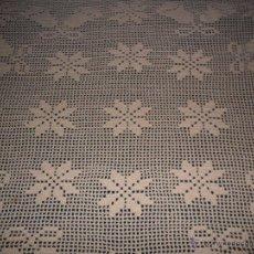 Antigüedades: MANTEL DE GANCHILLO. Lote 91887354
