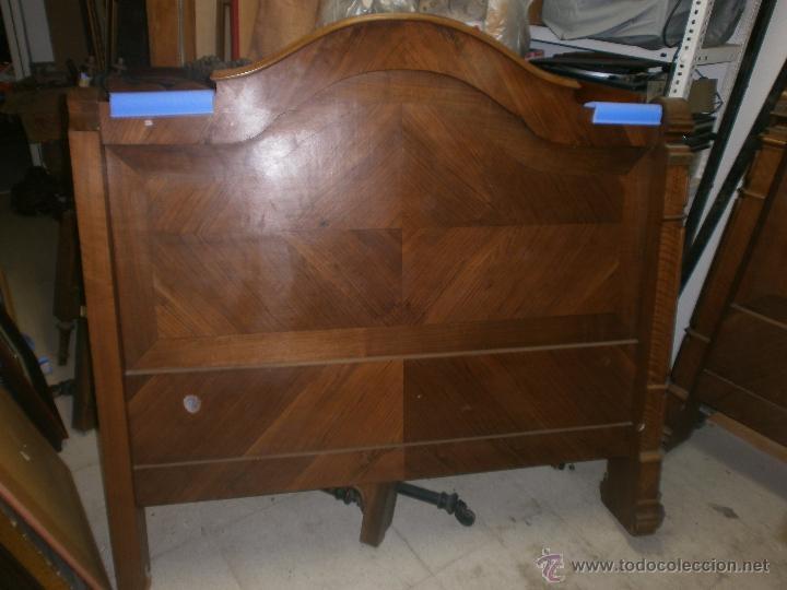2 cabeceros de cama en madera nogal o palosanto comprar - Camas de madera antiguas ...