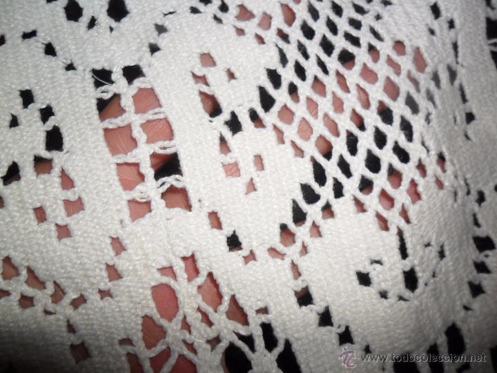 Antigüedades: Tapete antiguo tipo bolillos - Foto 9 - 50249997