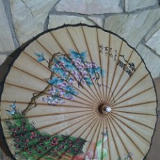 Antigüedades: SOMBRILLA CHINA PINTADA A MANO. AÑOS 20.. Lote 149826637