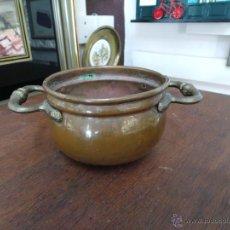 Antigüedades: PEQUEÑO CALDERO O PEROL EN COBRE. Lote 52399731
