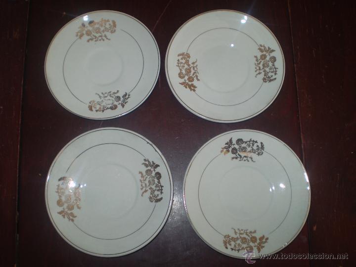 4 PLATOS DE SAN CLAUDIO OVIEDO (Antigüedades - Porcelanas y Cerámicas - San Claudio)