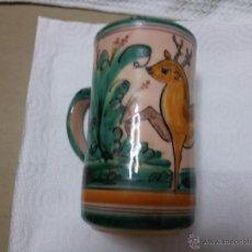 Antigüedades: JARRA DE PUENTE DEL ARZOBISPO-FIRMADA AGUADO -EL PUENTE-PINTADA A MANO.. Lote 50254466
