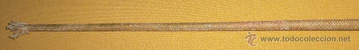 Antigüedades: Antigua fusta en cobre ,hilo de cera y esparto.1900 - Foto 4 - 50262175