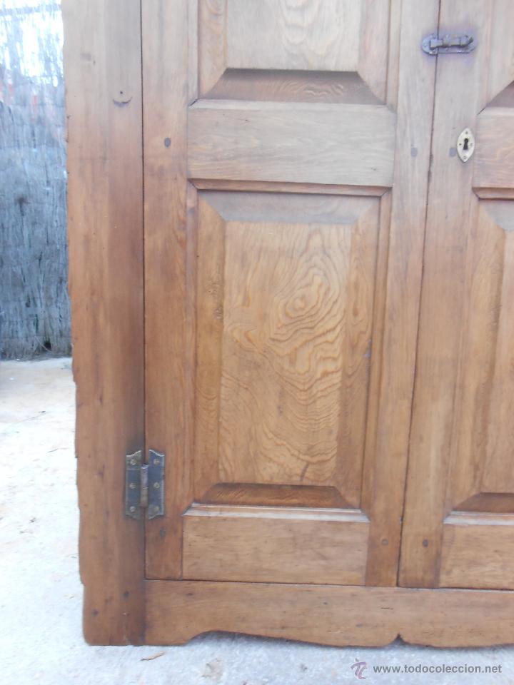 Antigüedades: ANTIGUO ARMARIO ESQUINERO DE PINO. RESTAURADO. - Foto 6 - 50262512