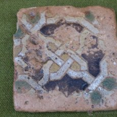 Antigüedades: AZULEJO ANTIGUO DE TOLEDO O SEVILLA - TECNICA ARISTA - LACERIA ARABE/MUDEJAR - SIGLO XVI.. Lote 50271055