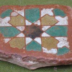 Antigüedades: AZULEJO ANTIGUO DE TOLEDO O SEVILLA - TECNICA ARISTA O CUENCA - ARABE/MUDEJAR - SIGLO XV.. Lote 50271174
