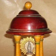 Antigüedades: ANTIGUA LÁMPARA RELIGIOSA DE SOBREMESA. Lote 50272956